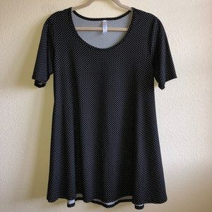 EUC LuLaRoe Polka Dot Perfect Tee